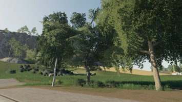 DARK TREES & BUSH TEXTURES fs19