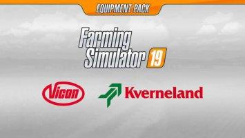 Kverneland & Vicon Equipment Pack (Kverneland DLC) fs19