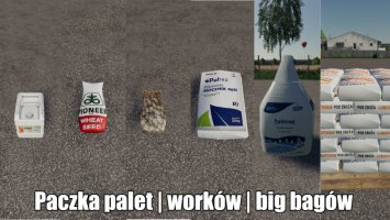 Paczka nawozów i nasion | Worki palety big bagi fs19