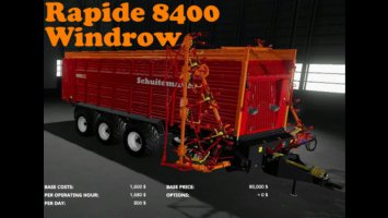 Schuitemaker Rapide 8400 Windrow by Arthur v1.2.0 fs19
