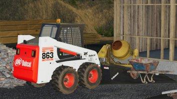 Bobcat 863 Turbo With Bobcat Shovel