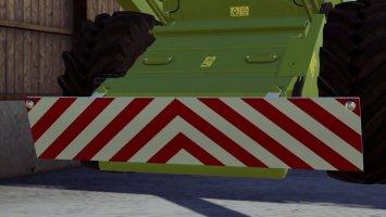 Frontwarntafel Für Claas Dominator 108SL fs19