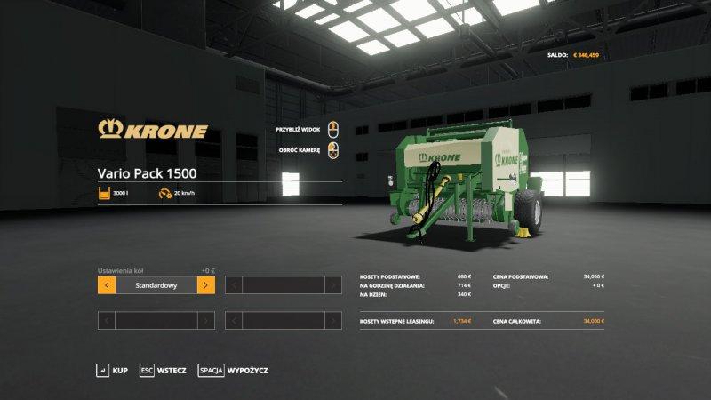 Krone Vario Pack 1500 FS19