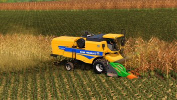 NEW HOLLAND TC 5070 AND VARIFEED 20FT fs19