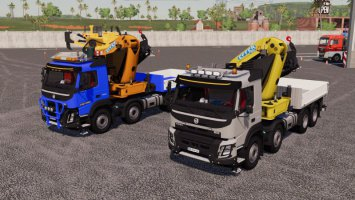 Volvo FMX 8x4 Crane Truck V1.1 fs19