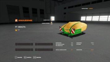 AMAZONE FRONTTANK FENDT F 380 GTA v1.0.0.1 fs19