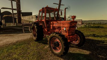 Rusty Tractor With Old Plow FS19