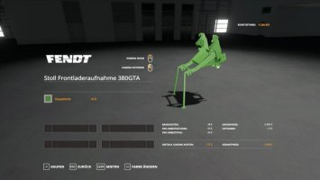 STOLL FL ADAPTER FOR FENDT F 380 GTA fs19