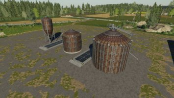 Rusty Looking Multi-Fruit Silos fs19