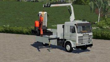 Scania 113H SideDoors + Crane fs19
