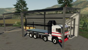 Warehouse Of Products On Pallets fs19