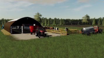 Arched Cowshed fs19