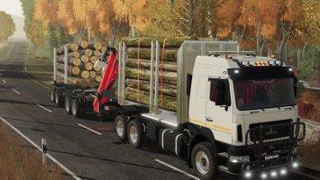 Maz 631203 Timber Truck fs19